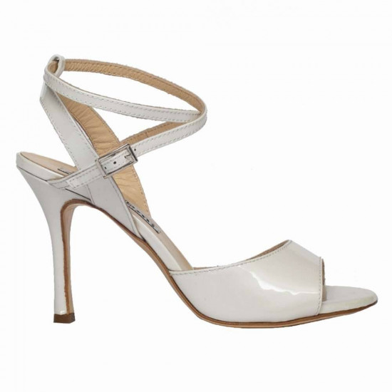 Maia White Pearlescent Patent Leather