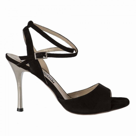 Maia Black and Silver Heel