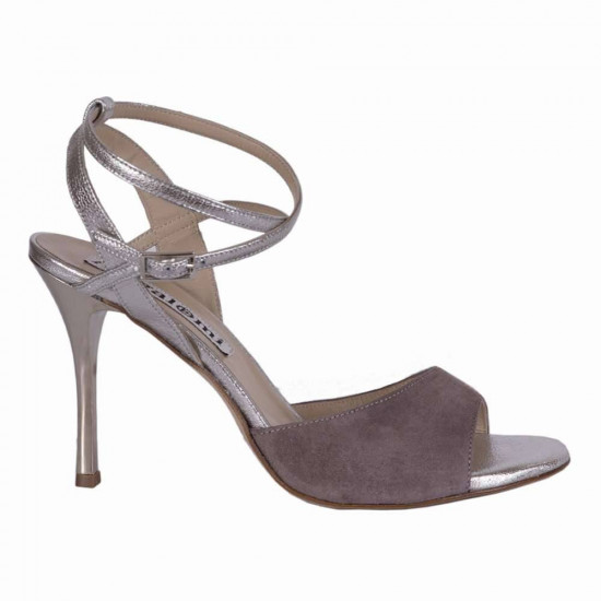 Maia Mink Suede and Silver