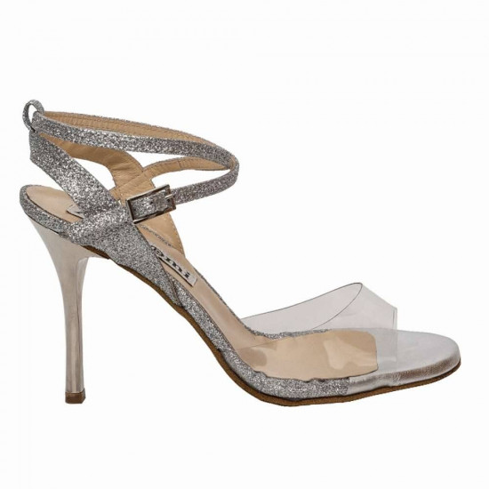 Maia PVC and Silver Glitter