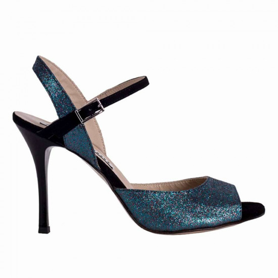 Dalia Multi Blue Glitter and Black