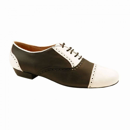 Arrabal Black and White Leather