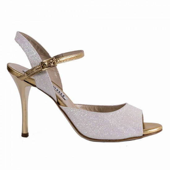 Dalia Glitter Bianco e Oro