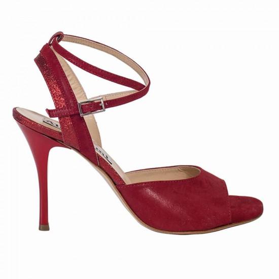 Nina Camoscio Rosso e Glitter Rosso