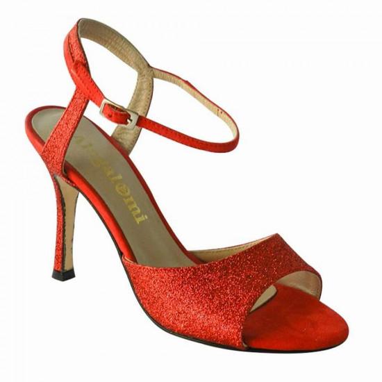 Maquina Tanguera Glitter Rosso